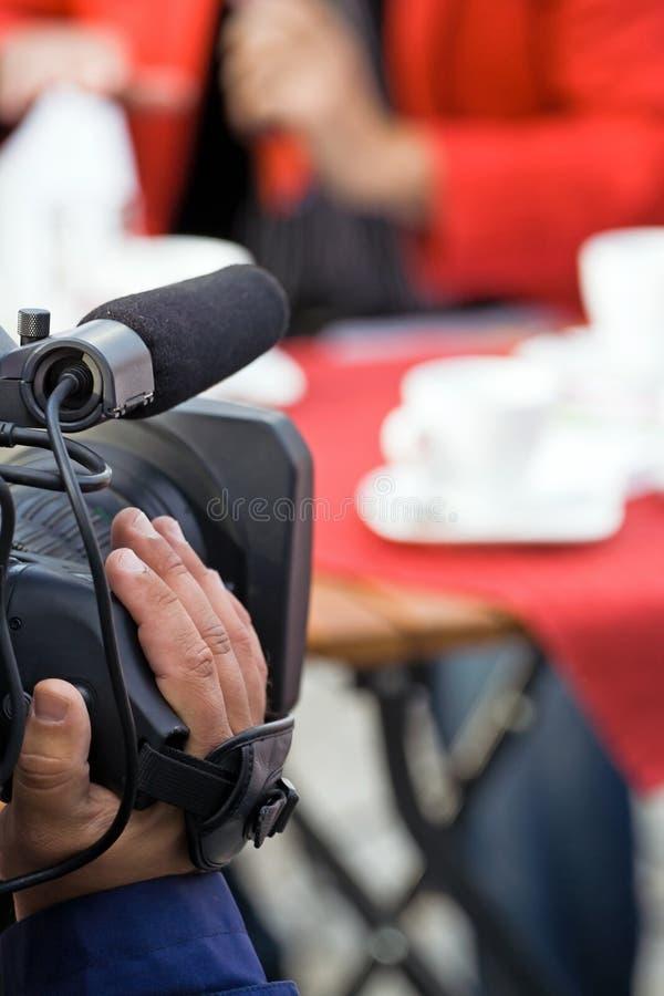 Operador de la cámara, difusión de los media imágenes de archivo libres de regalías