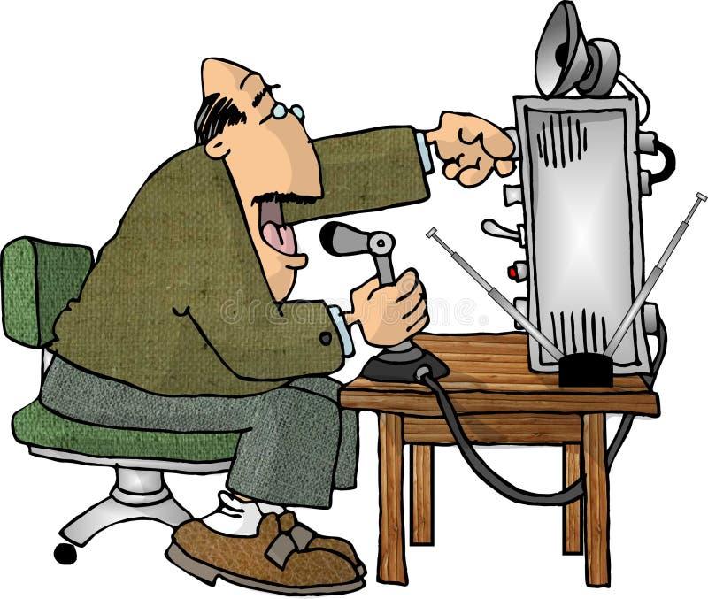 Operador de radio de jamón stock de ilustración