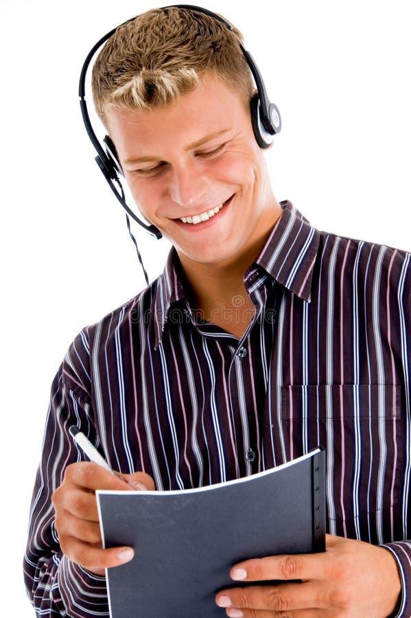 Operador de telefone amigável imagens de stock royalty free