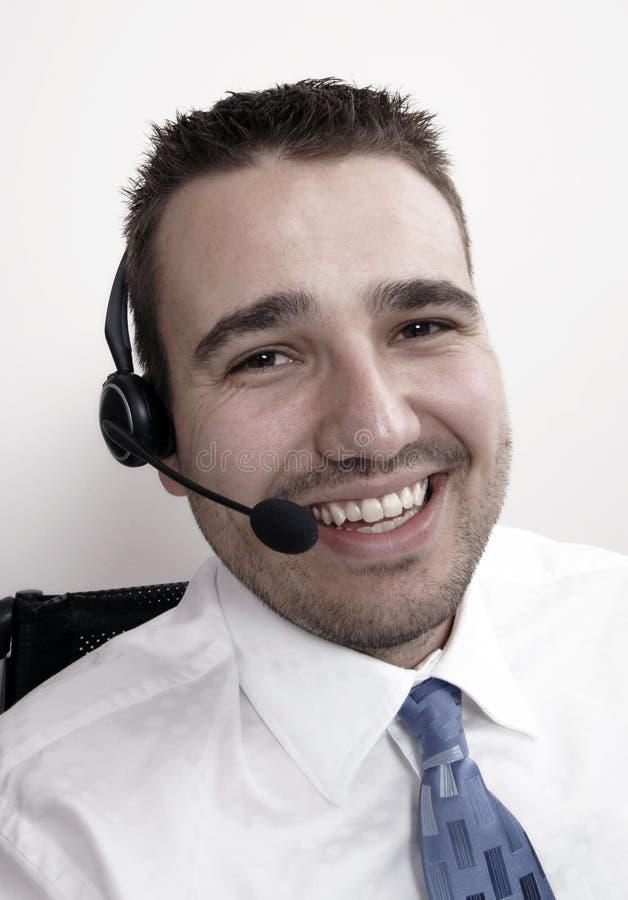 Operador de telefone - macho imagens de stock royalty free