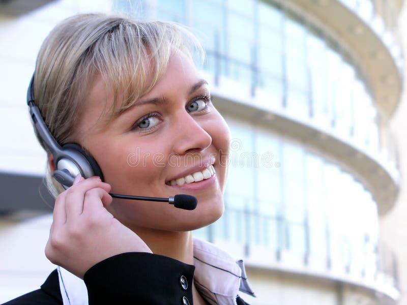 Operador del centro de atención telefónica imagenes de archivo