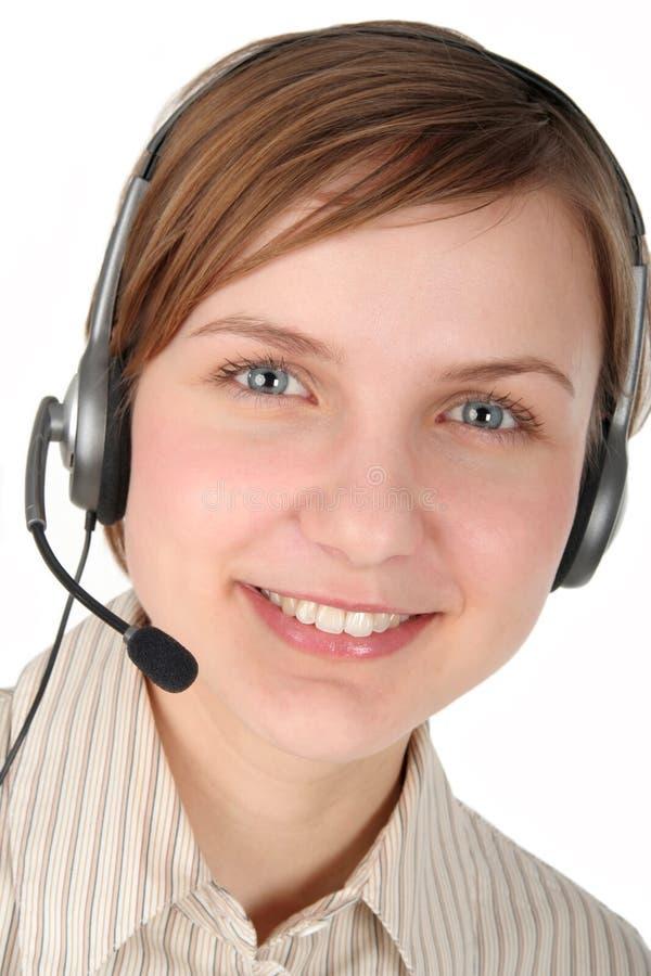 Operador del centro de atención telefónica fotos de archivo