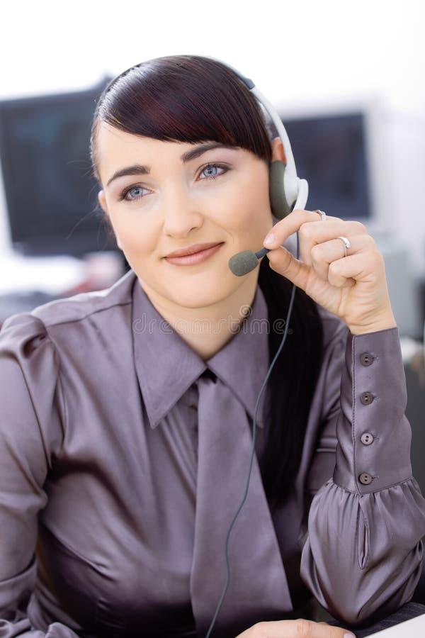 Operador del servicio de atención al cliente foto de archivo