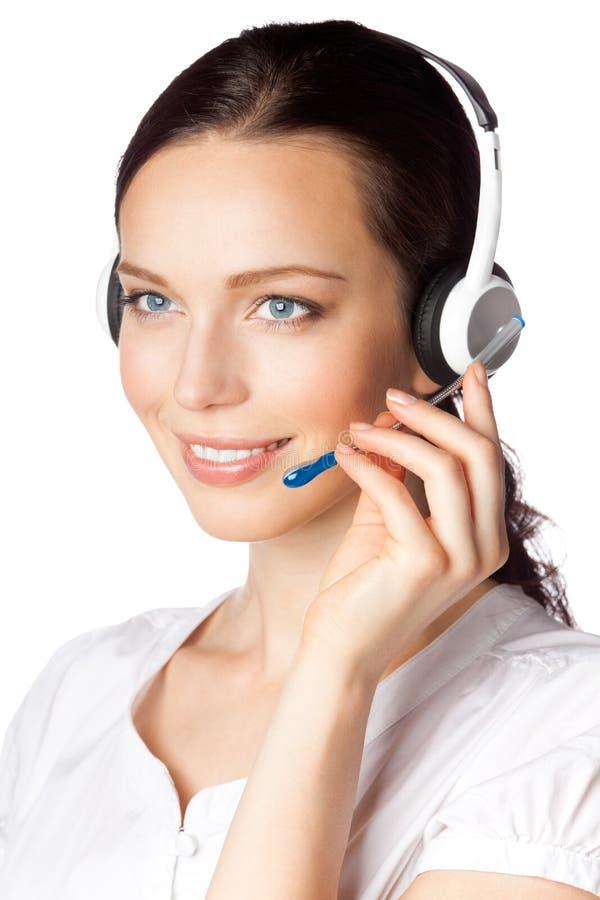 Operador del teléfono de la ayuda imagen de archivo libre de regalías