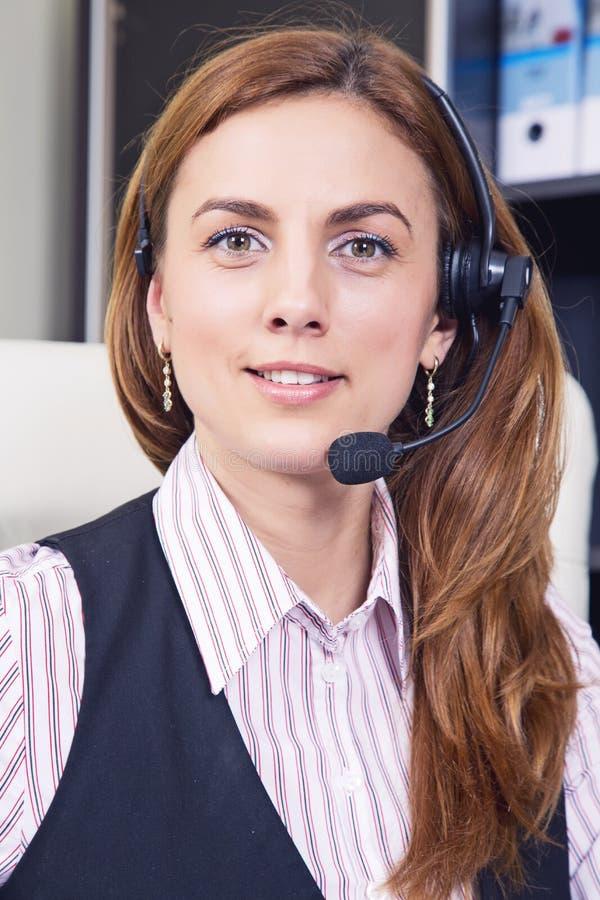 Operador del teléfono de la ayuda foto de archivo