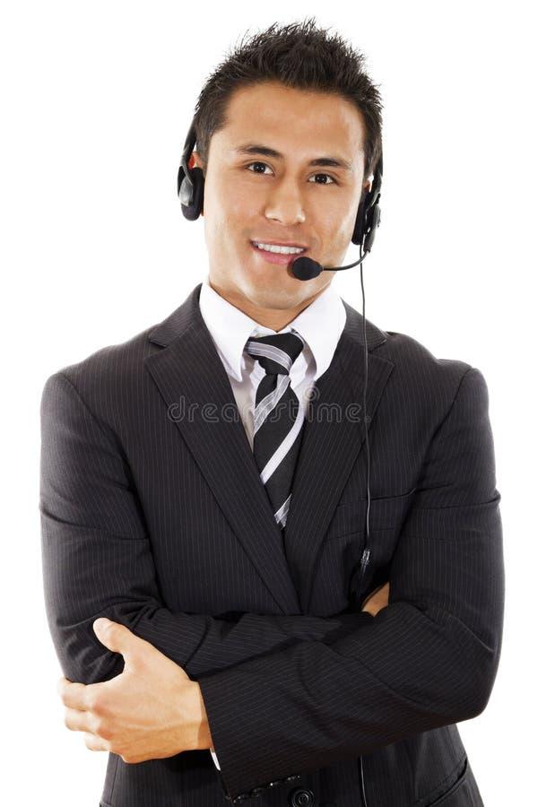 Operador do centro de chamadas imagem de stock