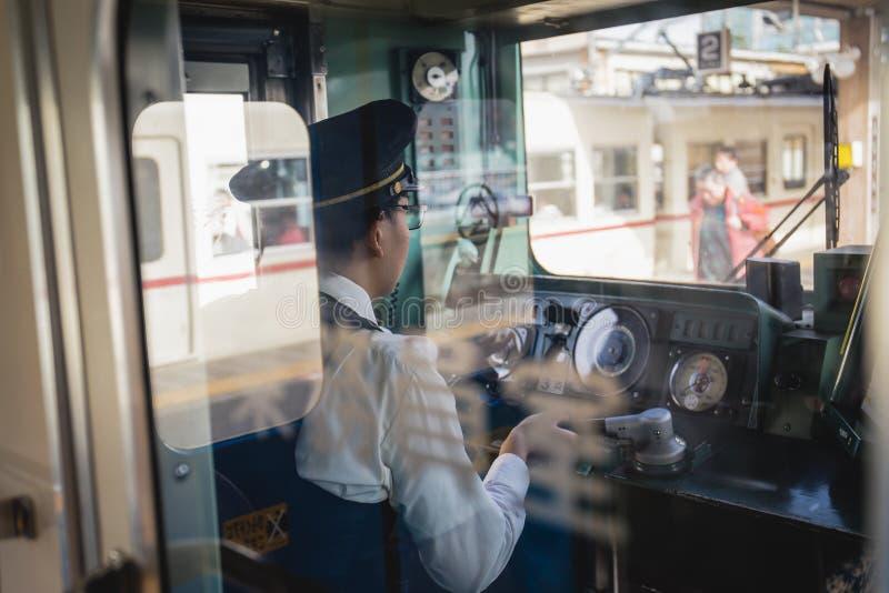 Operador do trem fotos de stock