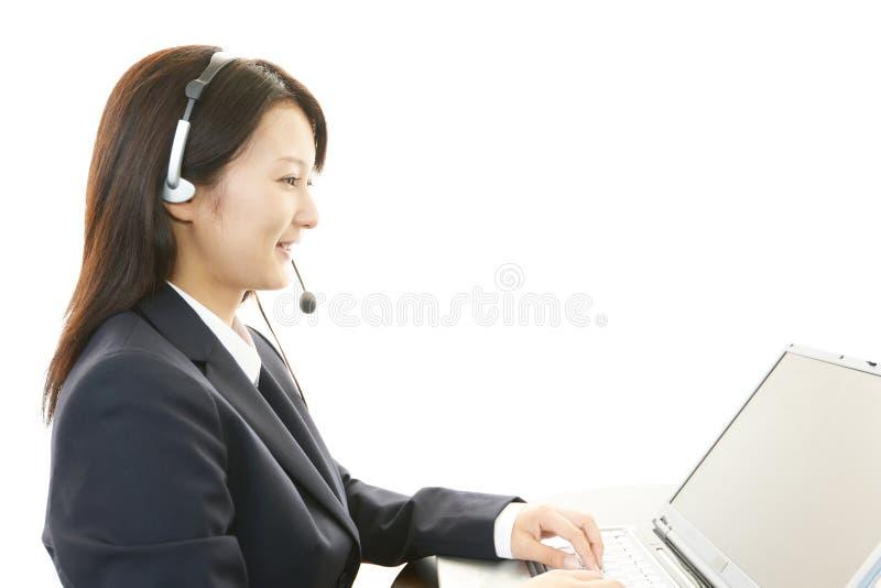Operador dos serviços ao cliente foto de stock