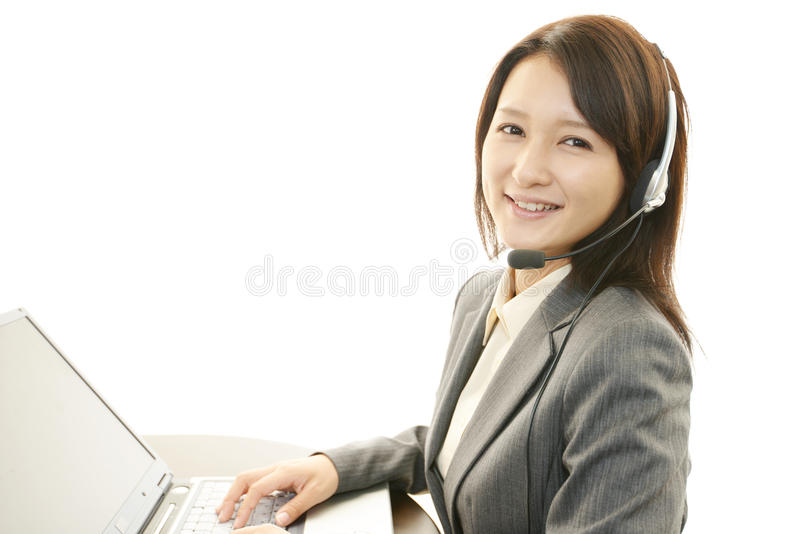 Operador dos serviços ao cliente imagens de stock