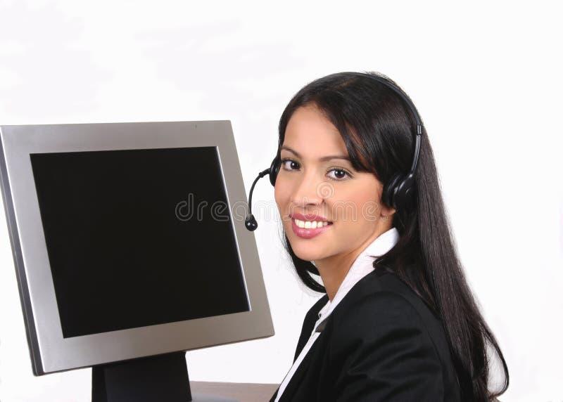 Operador elegante fotos de archivo