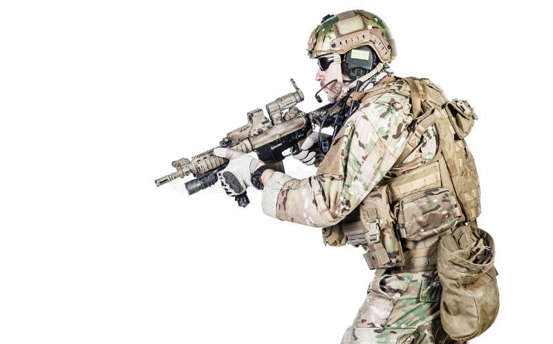 Operador especial da guerra imagens de stock