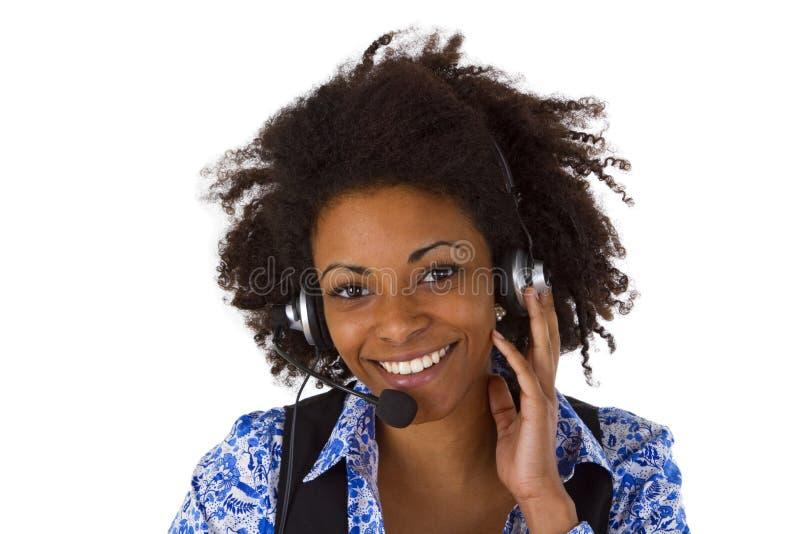 Operador fêmea do apoio a o cliente imagem de stock