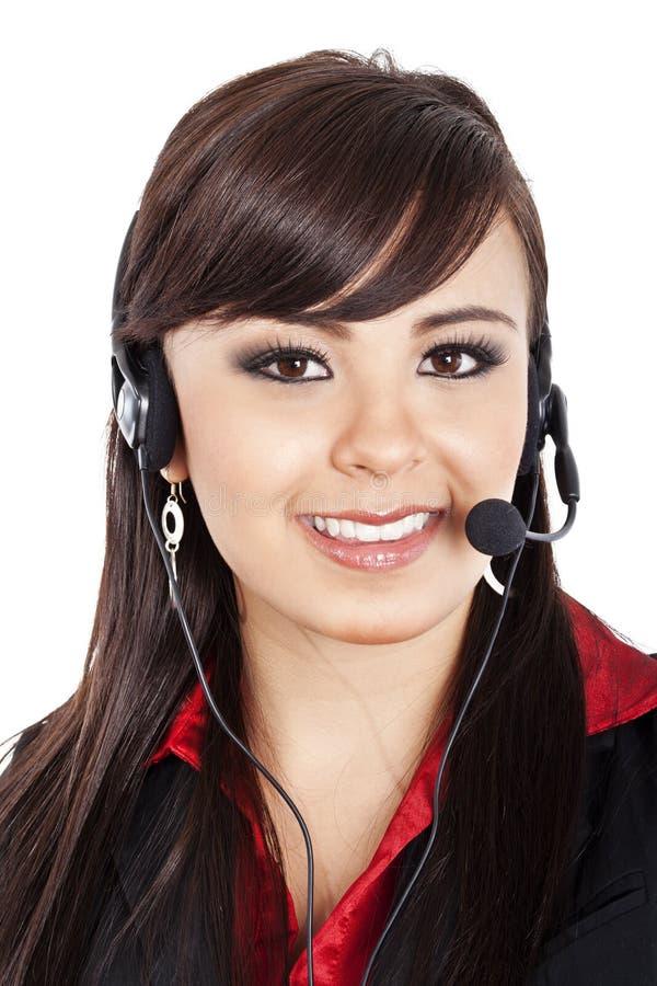 Operador fêmea do centro de chamadas imagem de stock royalty free