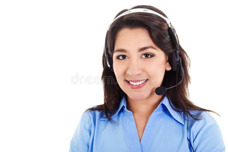 Operador fêmea do centro de chamadas foto de stock royalty free
