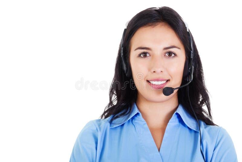 Operador fêmea do centro de chamadas imagens de stock