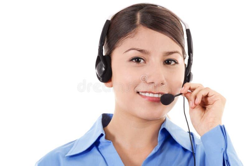 Operador fêmea do centro de chamadas fotos de stock royalty free