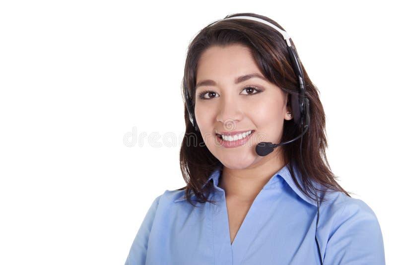 Operador fêmea do centro de chamadas imagem de stock