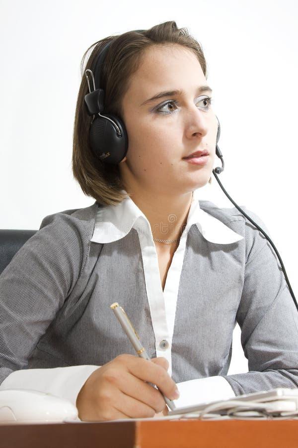 Operador/secretária no escritório imagens de stock