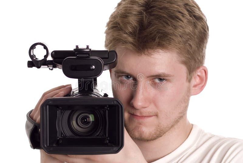 Operador video foto de stock