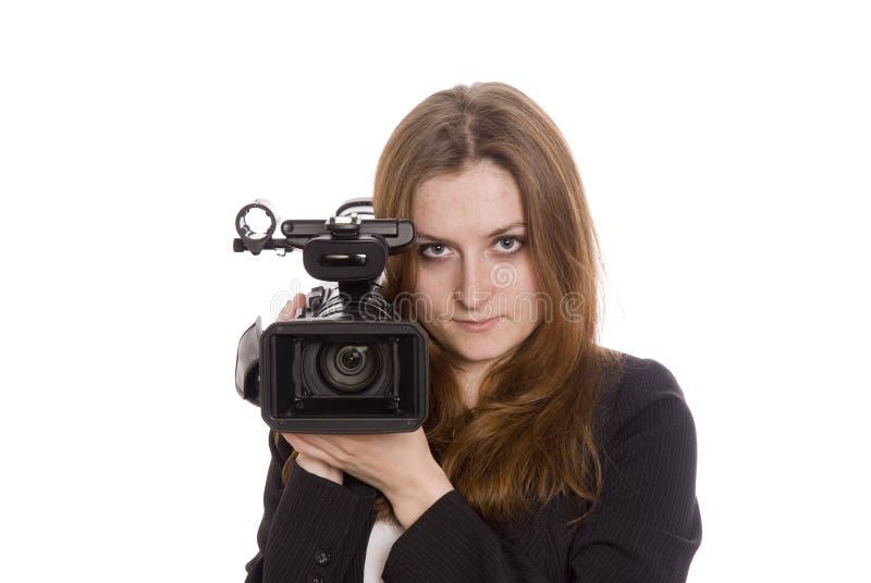 Operador video joven foto de archivo libre de regalías