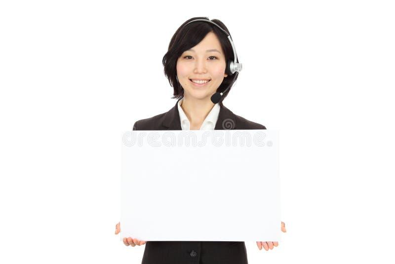 Operadores asiáticos novos foto de stock royalty free