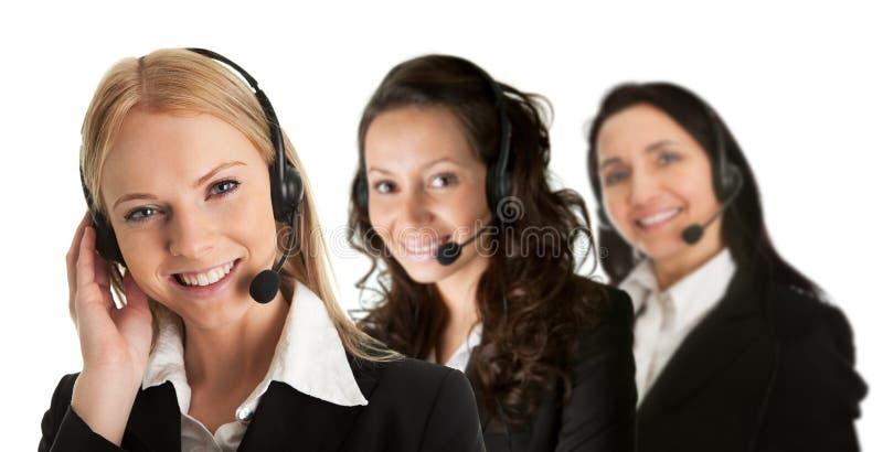 Operadores do centro de chamadas de Cheerfull imagem de stock royalty free