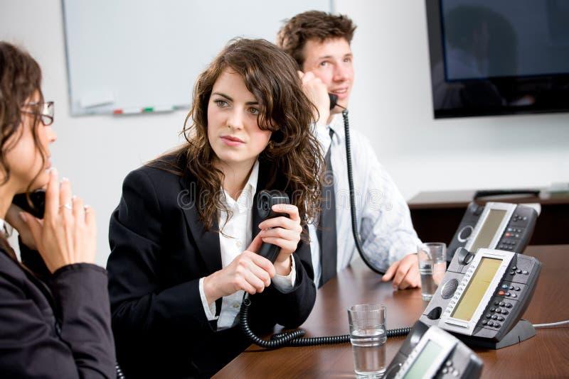 Operadores do telefone foto de stock