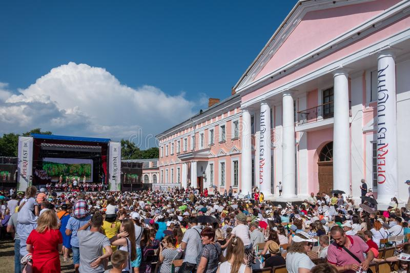 Operafest-Tulchyn 2018, Tulchin, de Oekraïne stock foto