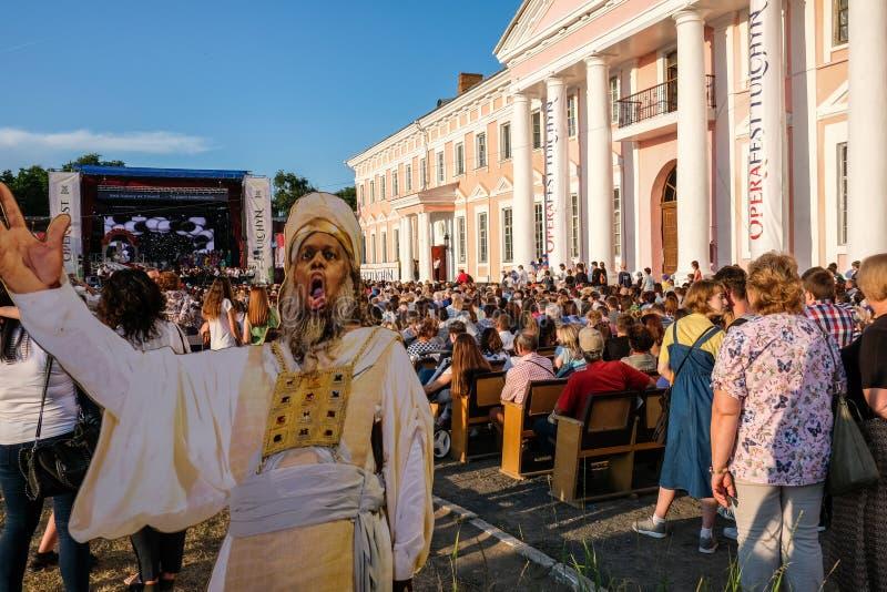 Operafest-Tulchyn 2018, Tulchin, de Oekraïne stock foto's
