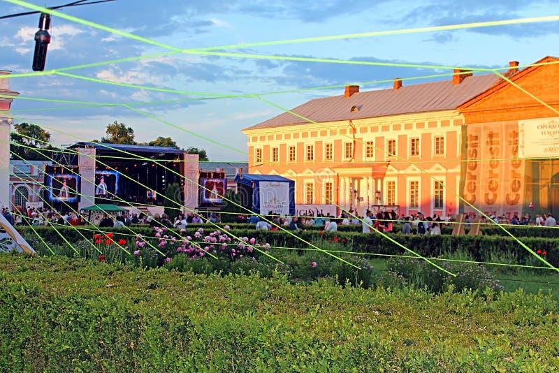 OperaFestTulchyn, festival internazionale dell'aria aperta di opera, è stato tenuto in Tulchyn immagine stock