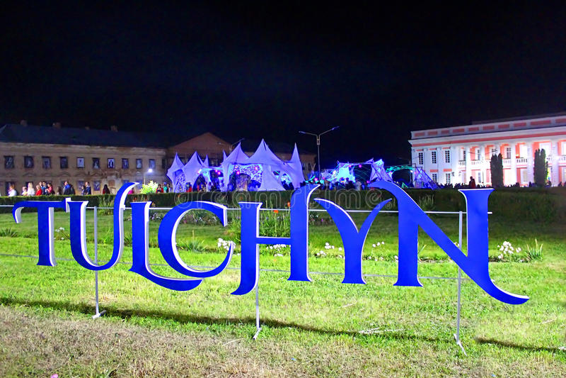 OperaFestTulchyn, festival internazionale dell'aria aperta di opera, è stato tenuto in Tulchyn immagini stock libere da diritti
