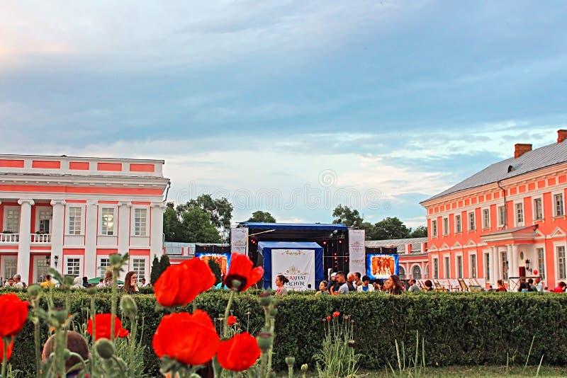 OperaFestTulchyn, festival internazionale dell'aria aperta di opera, è stato tenuto in Tulchyn fotografia stock