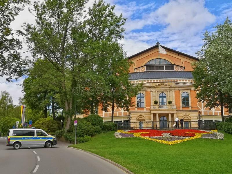 Operahuis in Bayreuth - Festival royalty-vrije stock foto