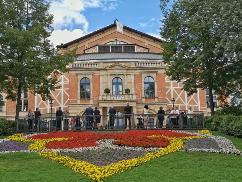 Operahuis in Bayreuth - Festival stock afbeeldingen