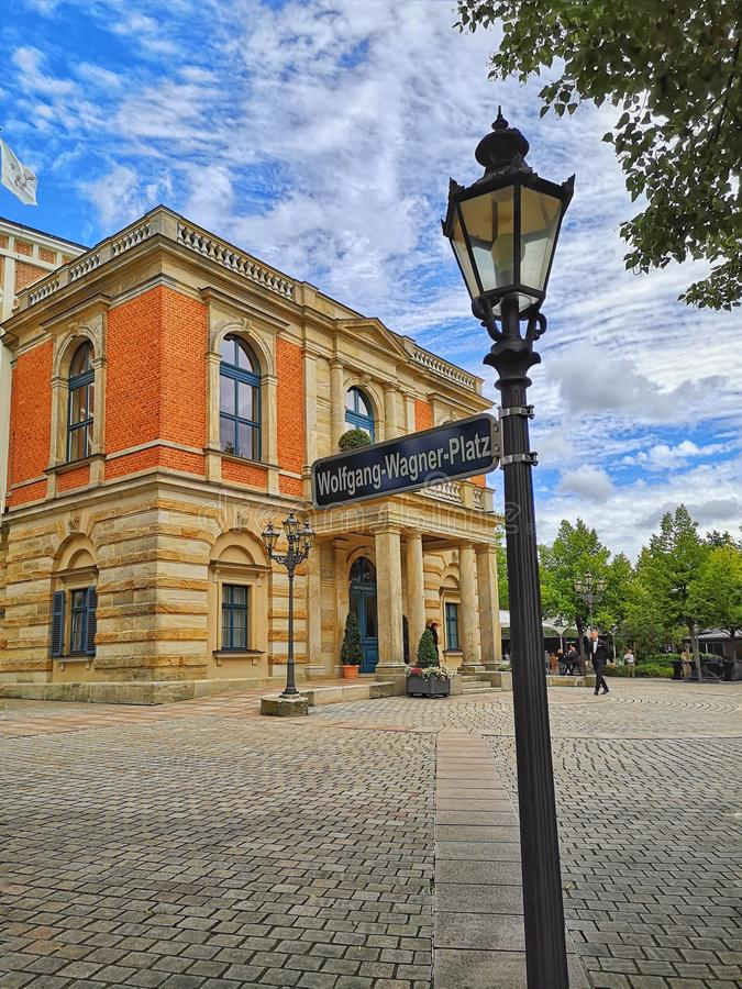 Operahuis in Bayreuth - Festival stock foto