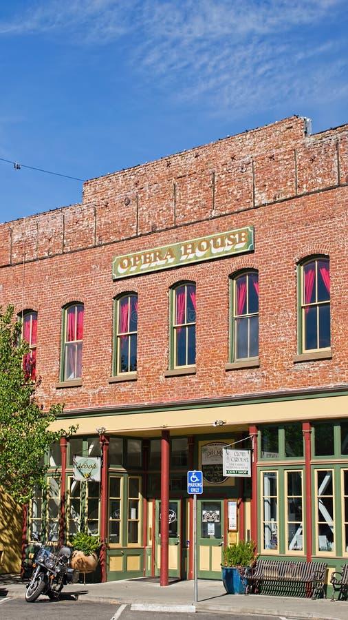 Operahuis in de Winters, Californië stock fotografie