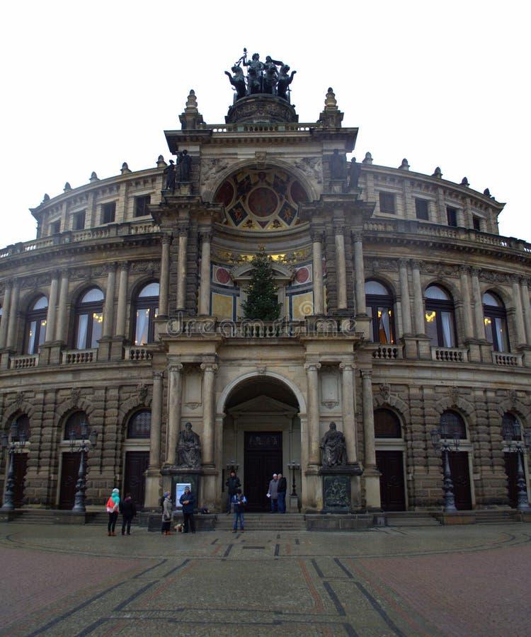 Operahuis Dresden, Duitsland stock fotografie