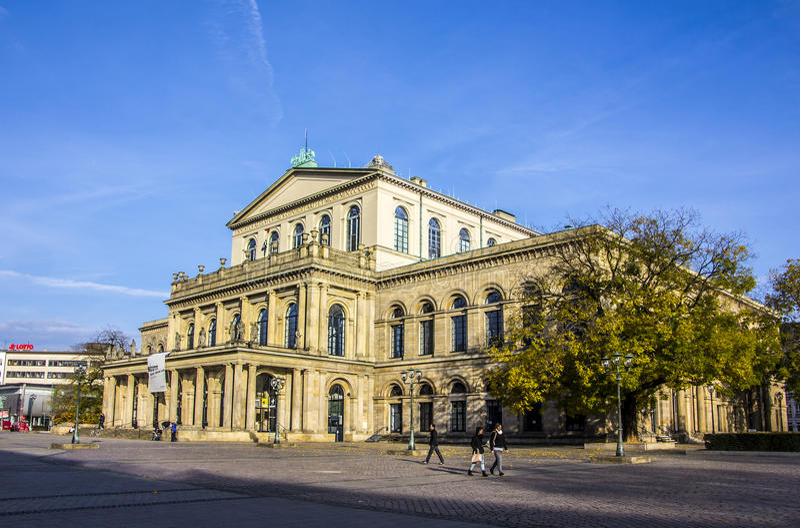 Operahuis, Hanover, Duitsland royalty-vrije stock afbeeldingen