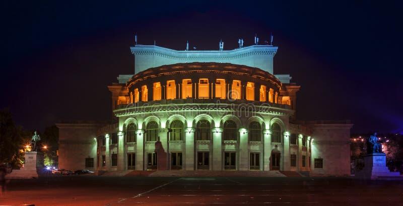 Operahuis in Yerevan royalty-vrije stock afbeelding