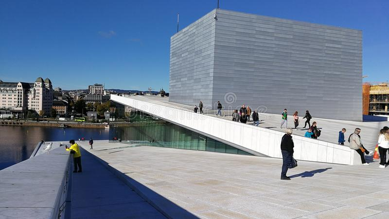 Operahuset Осло стоковое фото rf