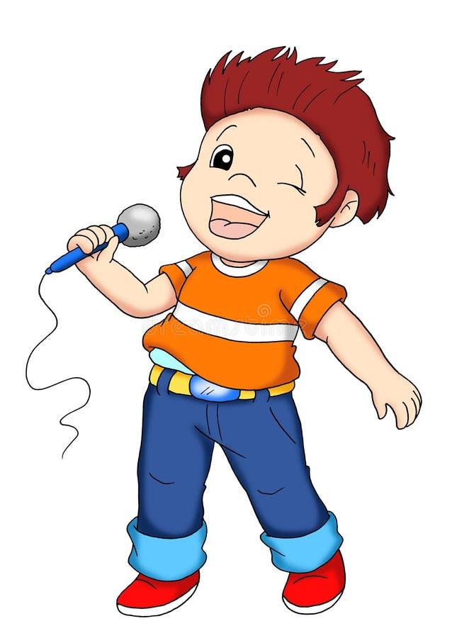 Operai 12, cantante illustrazione di stock