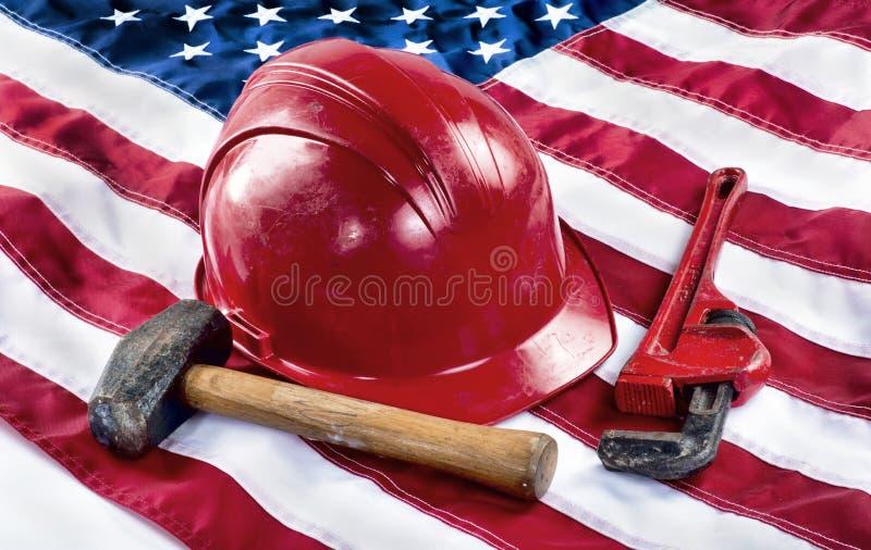 Operaio americano immagine stock