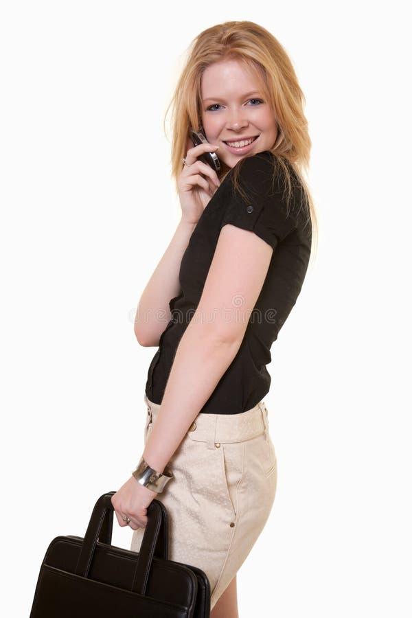Operaio caucasico attraente di telecomunicazioni fotografia stock libera da diritti