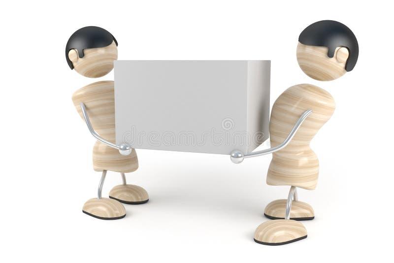 Lavoratore del caricatore, consegna a domicilio immagine stock libera da diritti