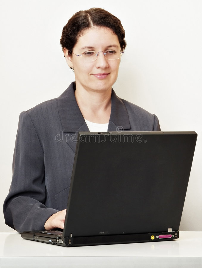 Operaio del computer portatile pro immagine stock libera da diritti