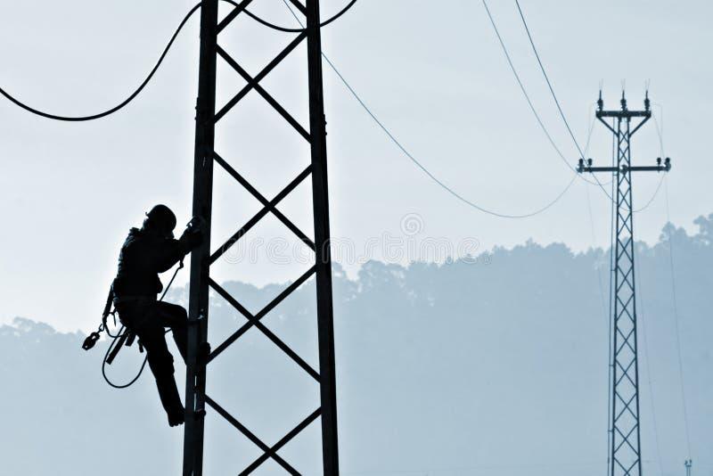 Operaio della centrale elettrica immagini stock libere da diritti