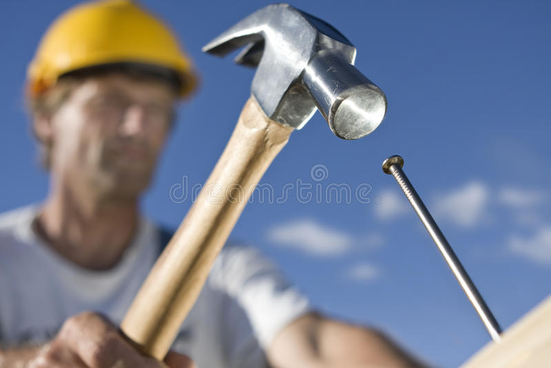 Operaio di costruzione immagine stock libera da diritti