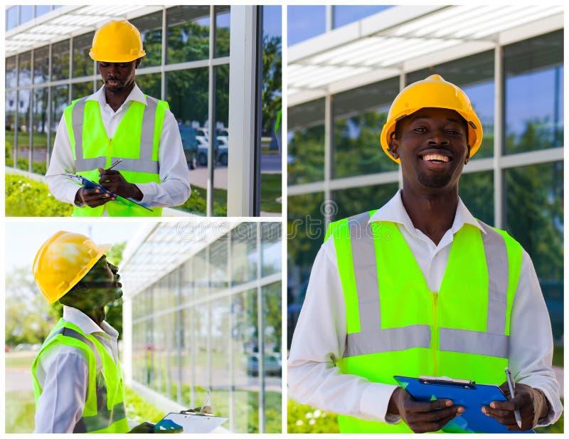 Operaio di costruzione africano fotografia stock