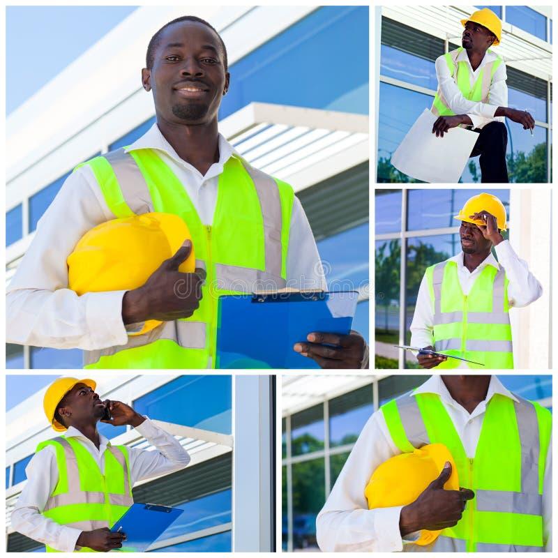 Operaio di costruzione africano fotografie stock