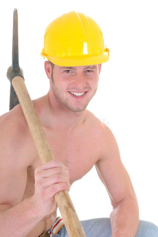 Operaio di costruzione macho fotografia stock libera da diritti